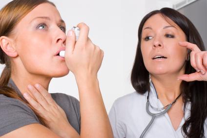 asthma using inhaler